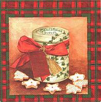 Салфетка для декупажа Рождественские сладости 33см х 33см