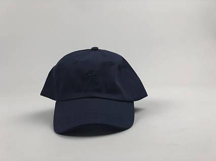 Кепка бейсболка Polo Ralph Lauren темно-синяя, темно-синий лого, фото 2