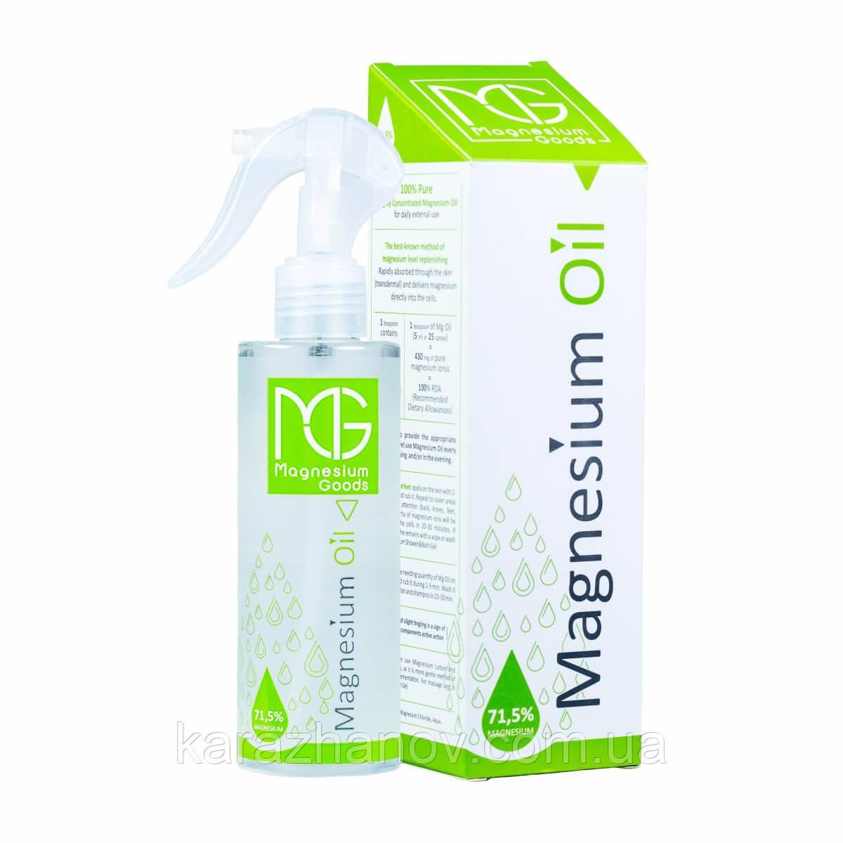 Магниевое масло, Magnesium Oil 200мл, Magnesium Goods.