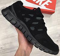 Беговые кроссовки Nike Free Run Plus 2 black. Живое фото. (Реплика ААА+)