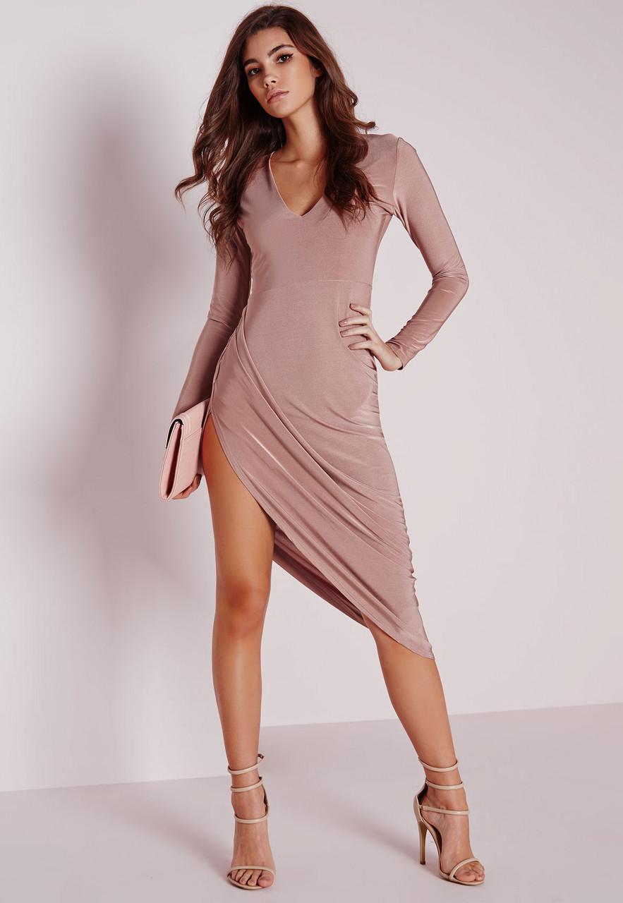 Новое вечернее асимметричное платье Missguided