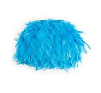Перья индюка Голубые на ленте 12-15 см/50 см, фото 1