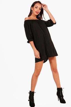 Новое платье с открытыми плечами и пуговицами Boohoo, фото 2