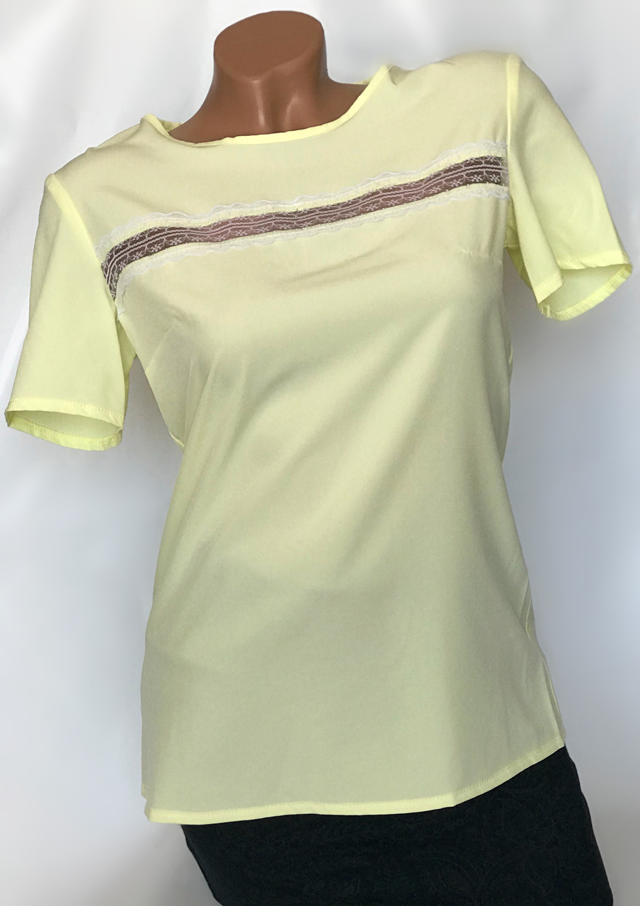 Блуза-футболка цвет желтый Бл-420