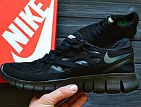 cea3f249 Беговые кроссовки Nike Free Run Plus 2 black. Живое фото. (Реплика ААА+
