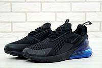 Мужские кроссовки Nike Air Max 270 Black/Blue, фото 1