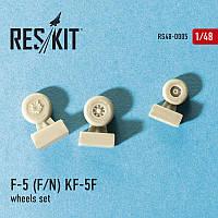 """Northrop F-5 (F/N), KF-5F """"Tiger II"""" wheels set  RES/KIT 48-0005 Northrop"""