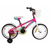 Детский велосипед Lerock RX16' Girl pink/white (RA-43-101)
