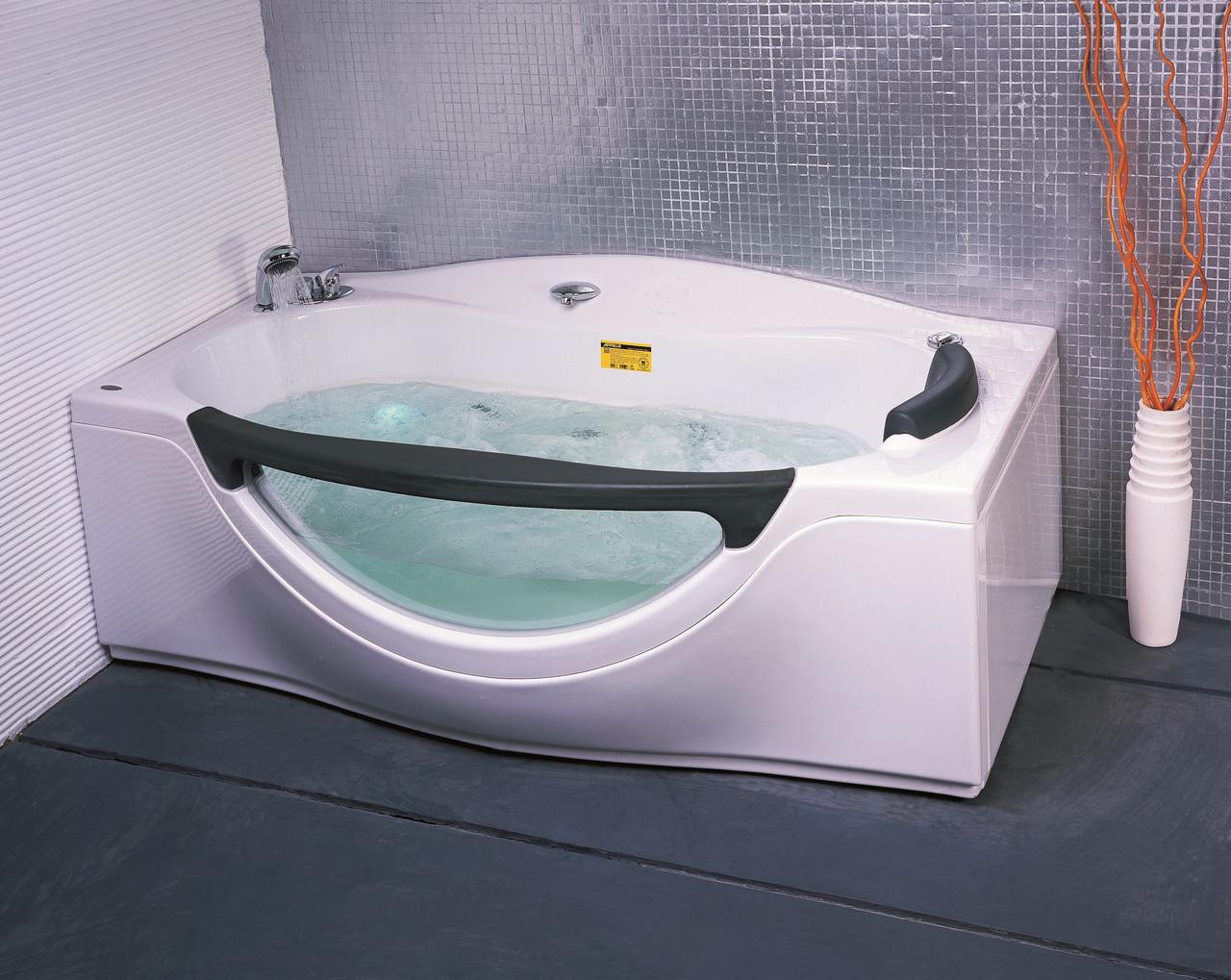 Ванна прямоугольная с гидромассажем и пневмокнопкой 1800*990*680 мм, с окошком