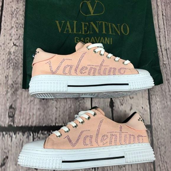 Женские кеды Valentino D3273 розовые