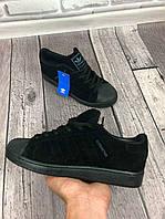 Кроссовки мужские Adidas Superstar D3249 черные, фото 1