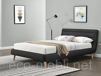 Ліжко Elanda 140 dark grey