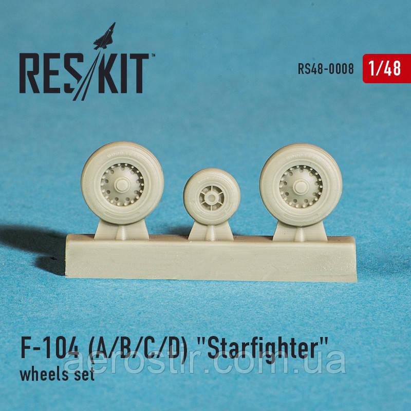 """Lockheed F-104 A/B/C/D """"Starfighter"""" wheels set 1/48  RES/KIT 48-0008"""