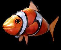 Летающая рыба Клоун на радиоуправлении, Надувная летающая рыбка Clownfish, фото 1