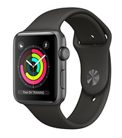 Apple Watch Series 3 42mm Space Gray Aluminum Case with Gray Sport Band  (MR362), фото 1