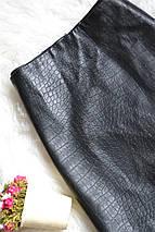 Черная короткая юбка под кожу H&M, фото 3
