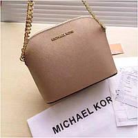 Клатч, сумка Майкл Корс, Cindy, натуральная кожа, mini, цвет золотой, фото 1