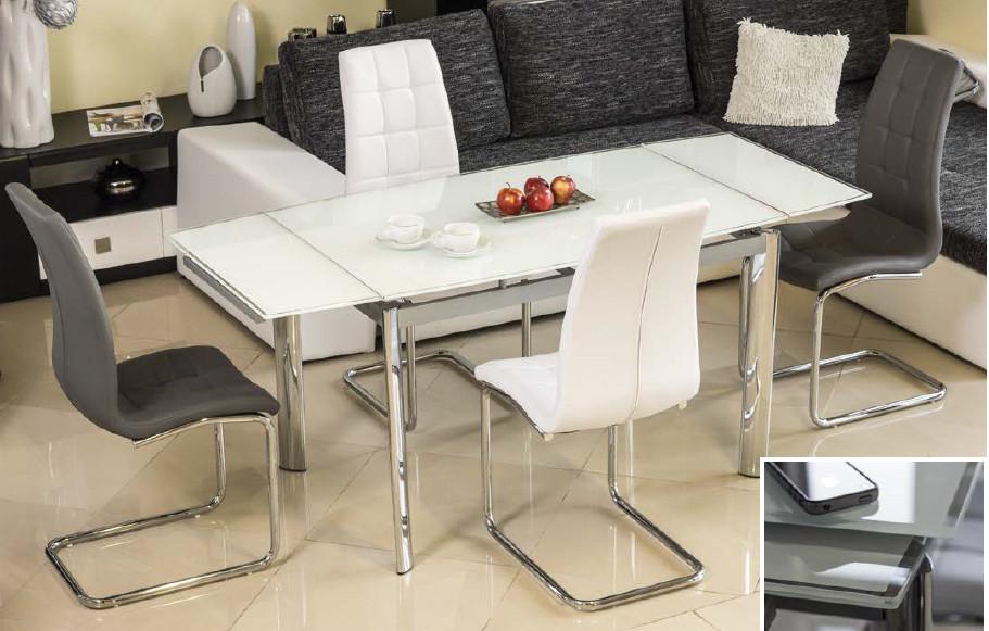 Скляний стіл gd-020 (білий)