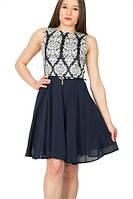 Izabel London. Нарядное платье больших размеров. Синего цвета. Plus Size (48-58)