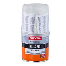 Смесь ремонтная ремкомплект Novol Plus 710 (полиэфирная смола+стеклоткань) 0,25кг