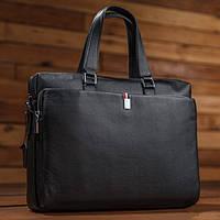 da202f8d7b98 Модная стильная мужская кожаная деловая casual черная сумка ручная работа,  фото 1