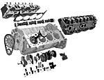 Моменты затяжки деталей двигателя NISSAN K15 K21 K25