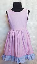 Летнее платье для девочки Ева р.104-122  розовый+ розовый, фото 2