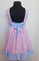 Летнее платье для девочки Ева р.104-122  розовый+ розовый, фото 3