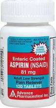 Аспирин Advanced Pharmaceutical Inc. Low Dose Aspirin 81 mg 120 tablets