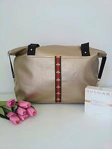 Повседневная женская сумка с цветной полосой спереди