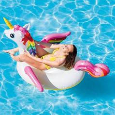 Надувной плот для плавания Intex 57281 «Единорог», 287х193х165 см