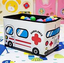 Складной пуф короб Скорая помощь ( банкетка ящик для игрушек ), фото 3