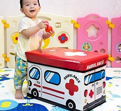 Складной пуф короб Скорая помощь ( банкетка ящик для игрушек )
