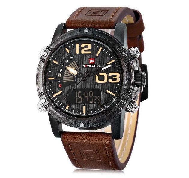 Мужские наручные кварцевые часы Naviforce NF9095BBY
