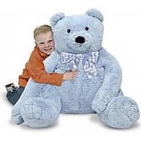 Мягкая игрушка Melissa&Doug Большой плюшевый мишка, голубой, 76см х. 69см (MD3983)