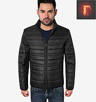 Стеганая куртка осенняя - 308 черный
