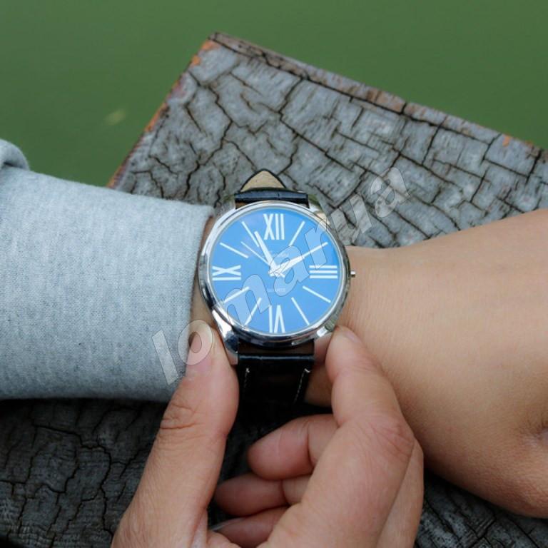 Мужские кварцевые часы blue mirror Black