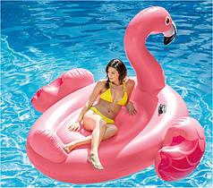 """Надувной плот для плавания Intex 56288, матрас-остров """"Фламинго"""", 218*211 см"""