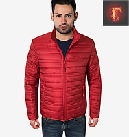 Осенняя стильная куртка - 308 красный
