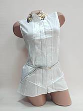 Блузка белая женская летняя