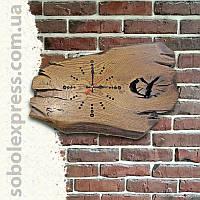 Часы деревянные ручной работы