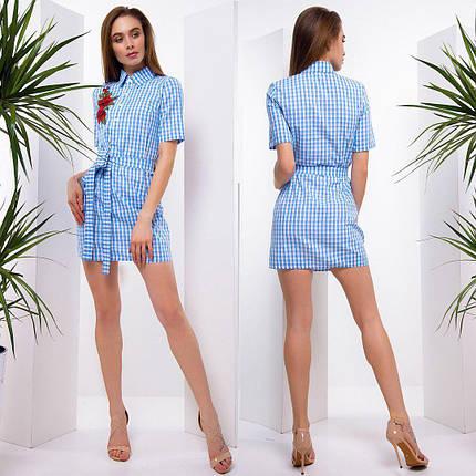 Стильное платье - рубашка с вышивкой тв-180507-3, фото 2
