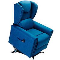 Кресло подъемное с двумя моторами, BERGERE (синего цвета)