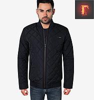 Осенняя стеганая мужская куртка - 1728 темно-синий, фото 1