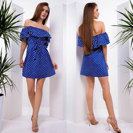 Летнее платье мини из хлопка тв-180508-1, фото 2