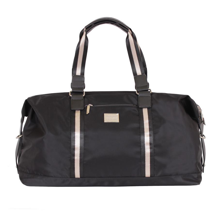 Дорожная черная сумка с карманами