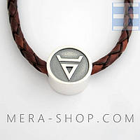 Символ Велеса бусина-оберег из серебра