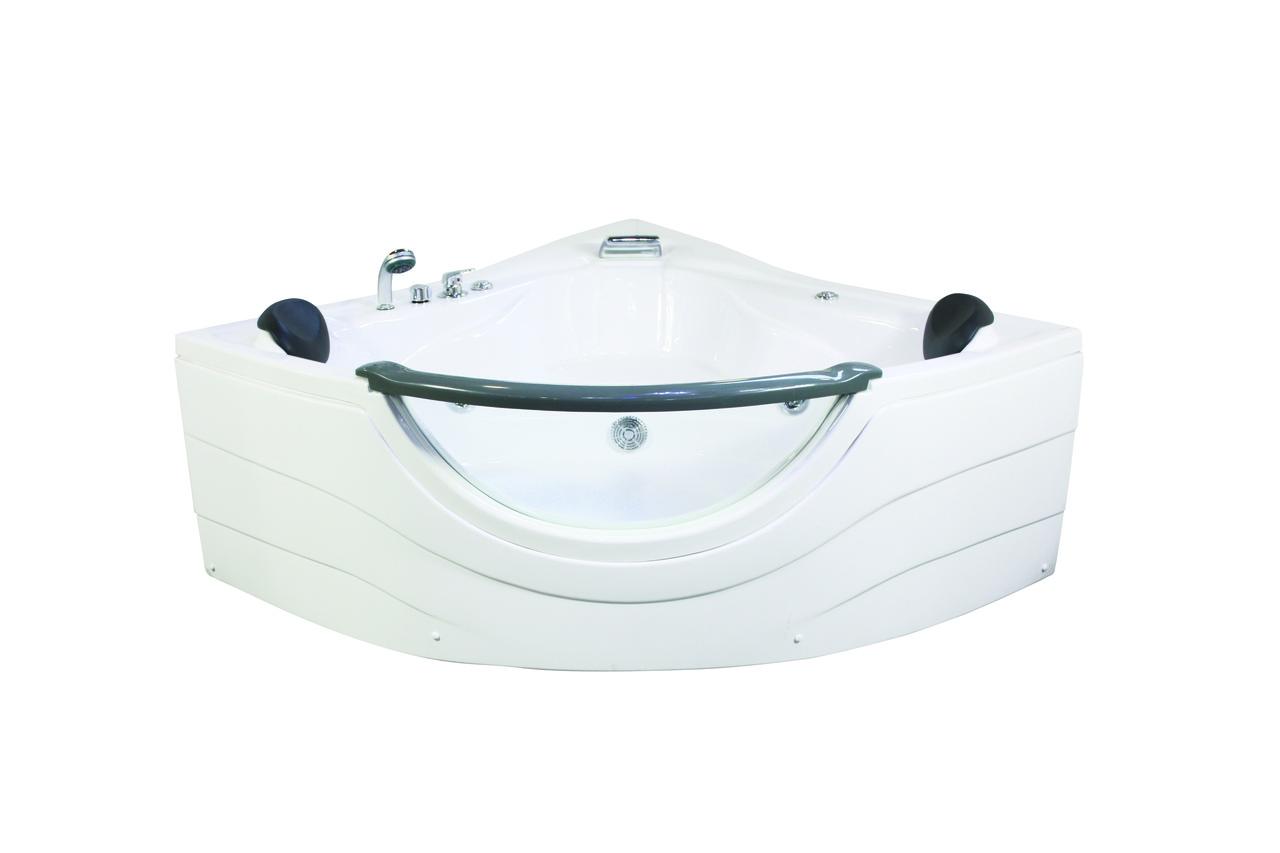 Ванна APPOLLO угловая с гидромассажем и пневмокнопкой 1520*1520*710 мм