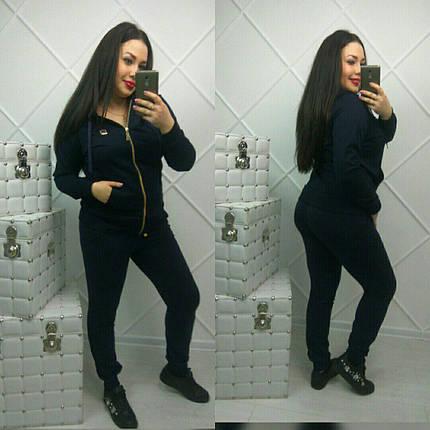 Костюм женский, кофта на змейке и штаны, размеры 52-54 и 56-58 Турция, фото 2