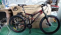 Спортивный велосипед Azimut Dinamic 26 дюймов.  Переключатели скоростей SHIMANO. Дисковые тормоза